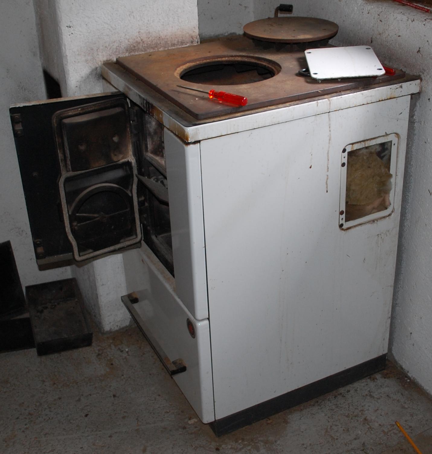 Kochherde mit Asbest